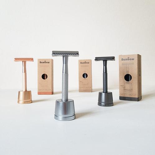 Metal Safety Razor + Stand
