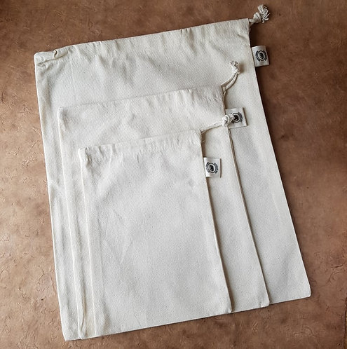 Organic cotton produce bag - set of 3