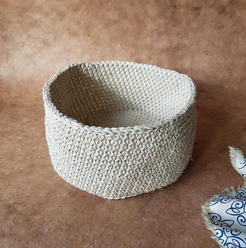 Crochet hemp basket - Set of 2
