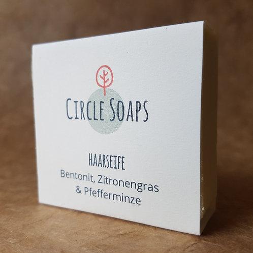 Hair Soap - Bentonite, Lemongrass & Peppermint