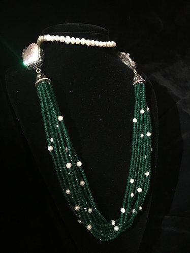 Turkish Jade & Pearl Bead