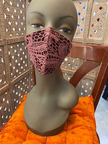 burgundy lace romantic mask