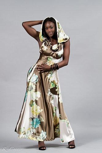 Silk Hoody Gown