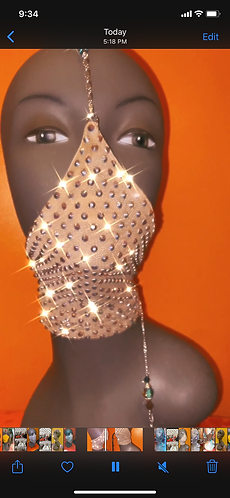 Nude Bling Mask