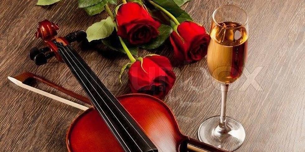 Violin Rose And $5 Wine