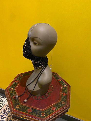 Corset beaded Mask