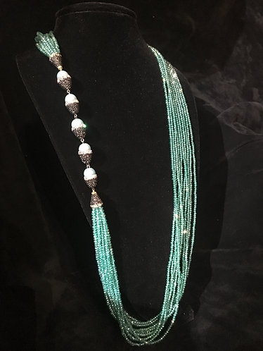 Turkish Teal Crystal Bead