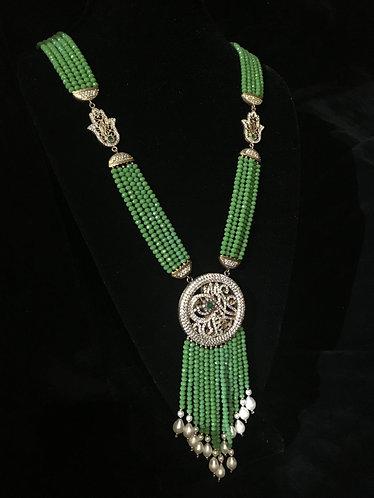 Turkish Green Hamsa Bead