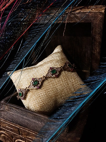 Turkish Emerald Tennis Bracelet