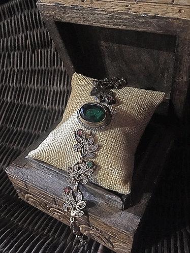 Turkish Emerald Gem Bracelet