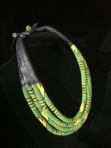 African Masai Necklace Green