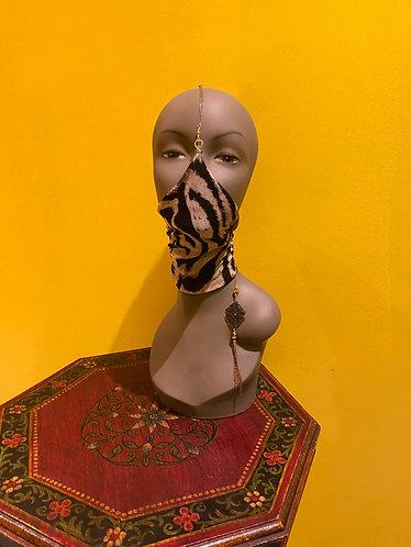 Navy Floral Mask