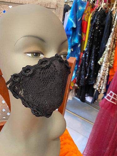 Stretch black lace