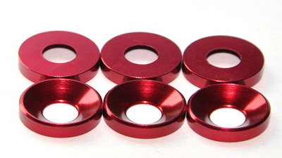 MAX 3 mm Countersunk Washer ( 10 pcs ) Red