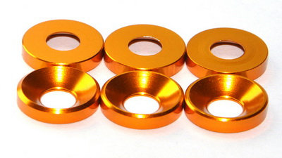 MAX 3 mm Countersunk Washer ( 10 pcs ) Orange
