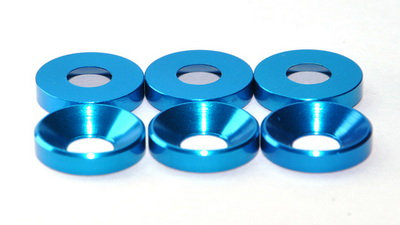 MAX 3 mm Countersunk Washer ( 10 pcs ) Light BLue