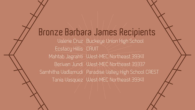 2020-2021 Bronze Barbara James Banner An
