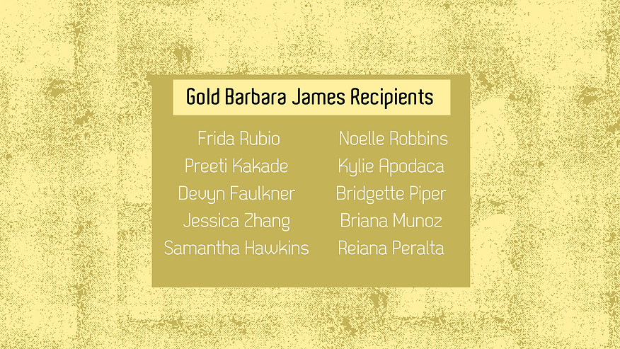 Gold Barbara James Award Announcement.pn