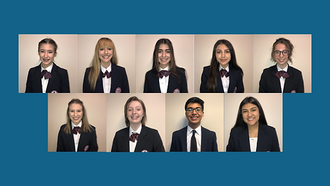 2020-2021 HOSA State Officer Group Pictu