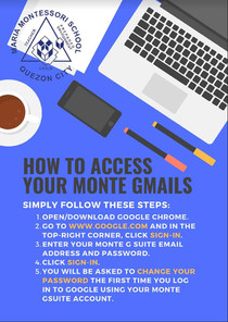 How to access your monte@gsuite
