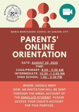 Parents' Online Orientation
