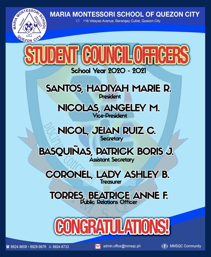 SC Officers                         S.Y. 2020-2021
