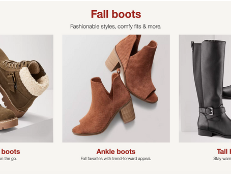 TARGET FALL SHOES UNDER $40