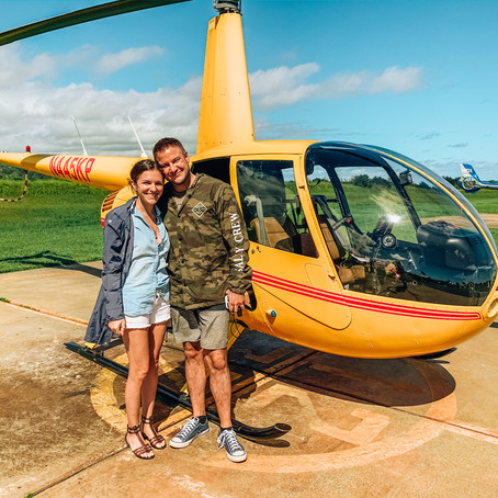 THE NĀ PALI COAST BY AIR IN A DOORS-OFF HELICOPTER