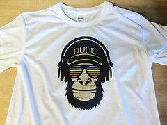 Apparel Printing - Dude Monkey Design Printed T-Shirt