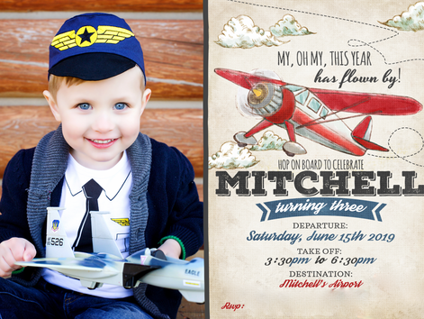 MR turned 3, A Toddler Plane Party!!