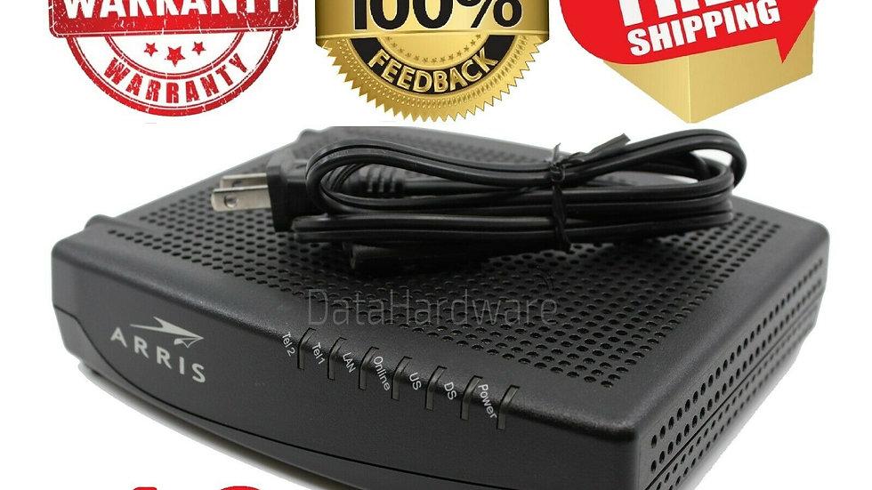 Lot x10 Arris TM822G Cable Modem DOCSIS 3.0 8x4 343 Mbps speed * VoIP *