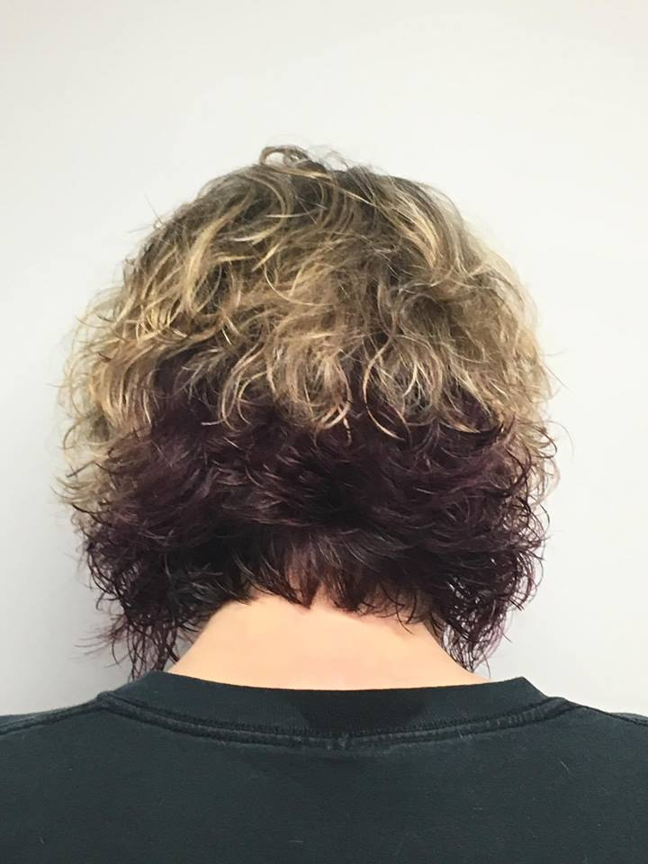 Curly bob back
