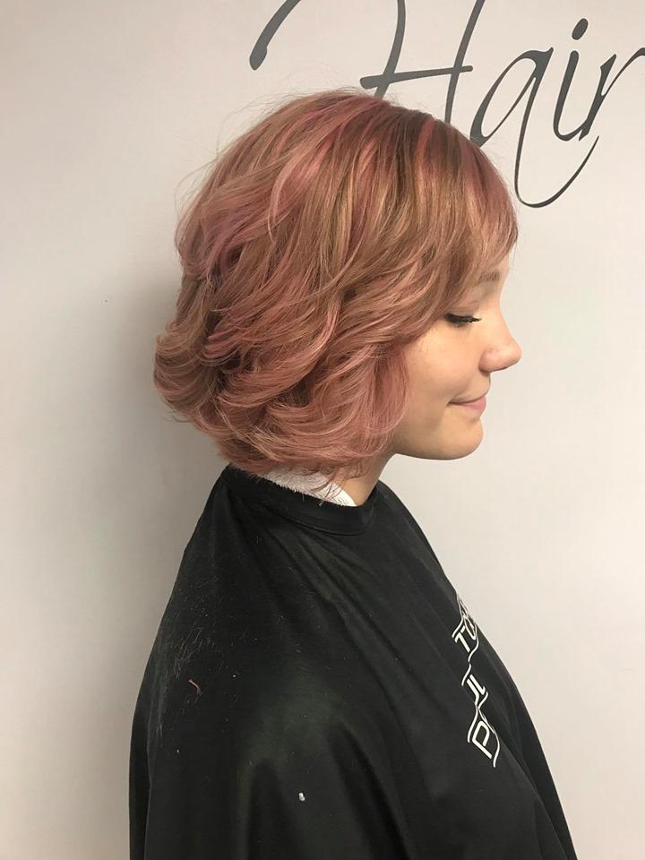 Pink bob side