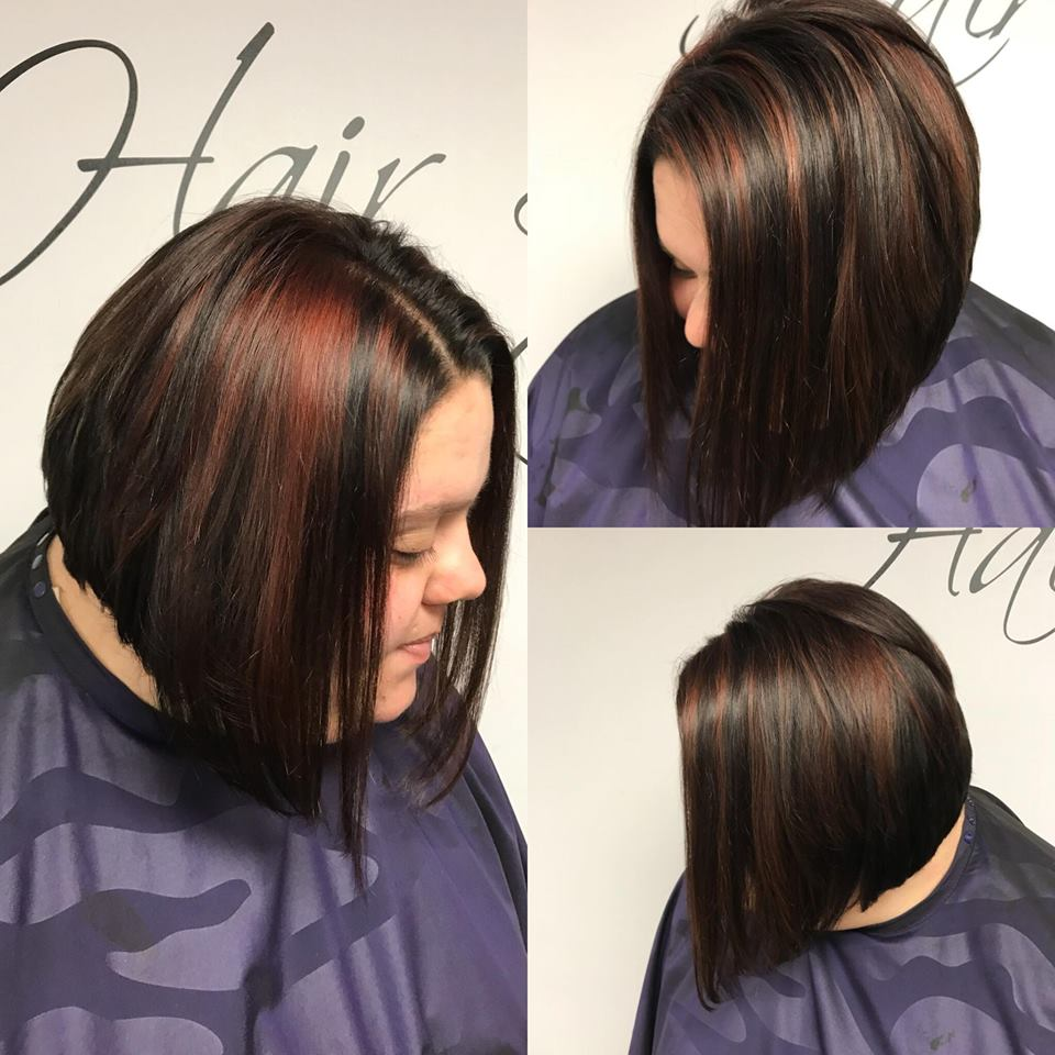 Subtle red highlights