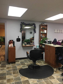 Our hair styling station