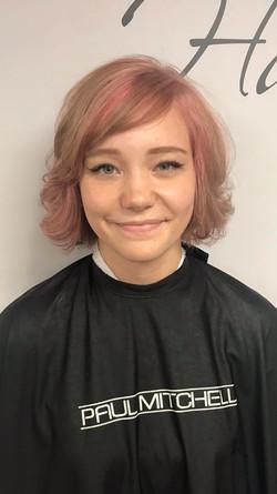 Adorable pink bob