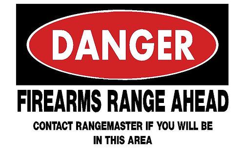 Danger Sign - Range Ahead
