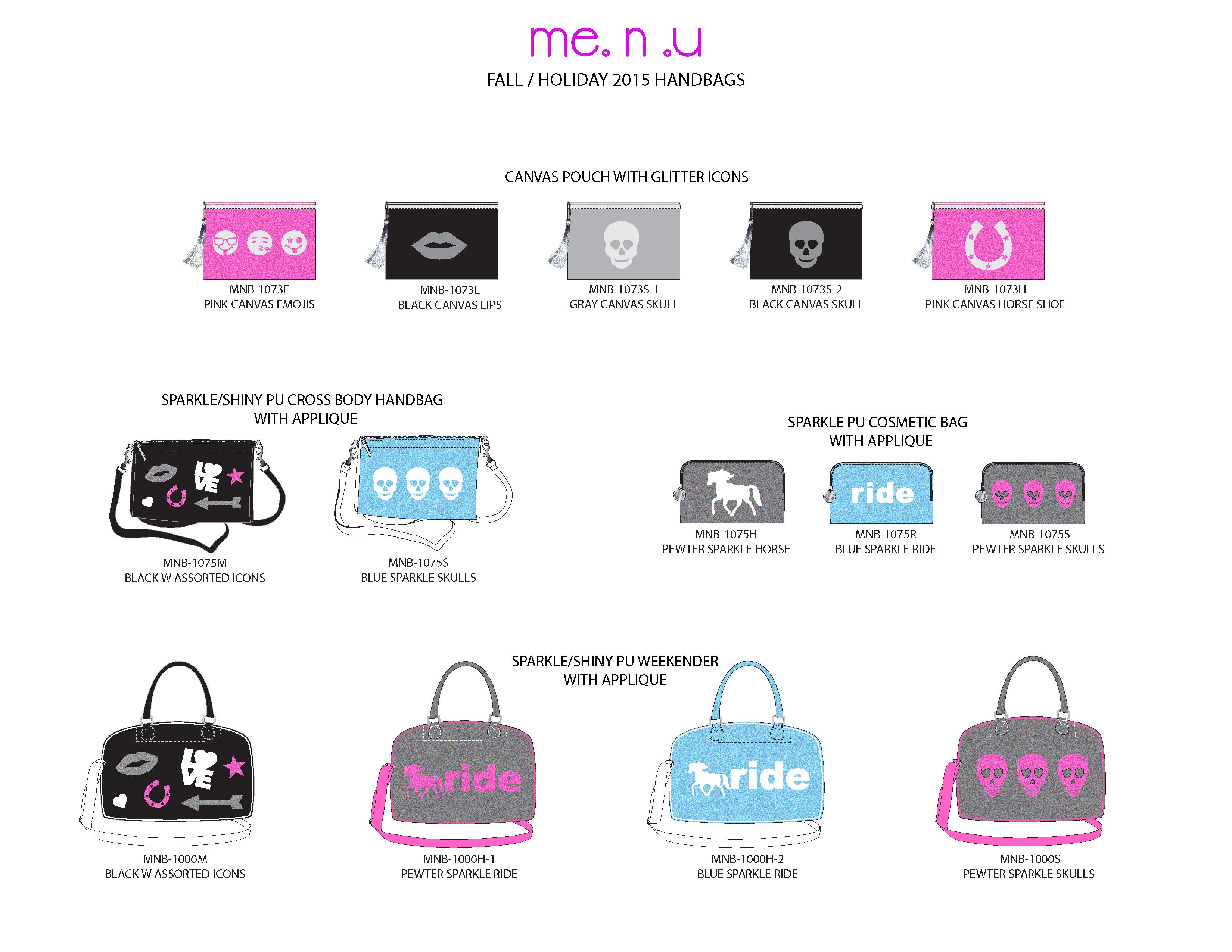 Me.n.u Icon Handbags