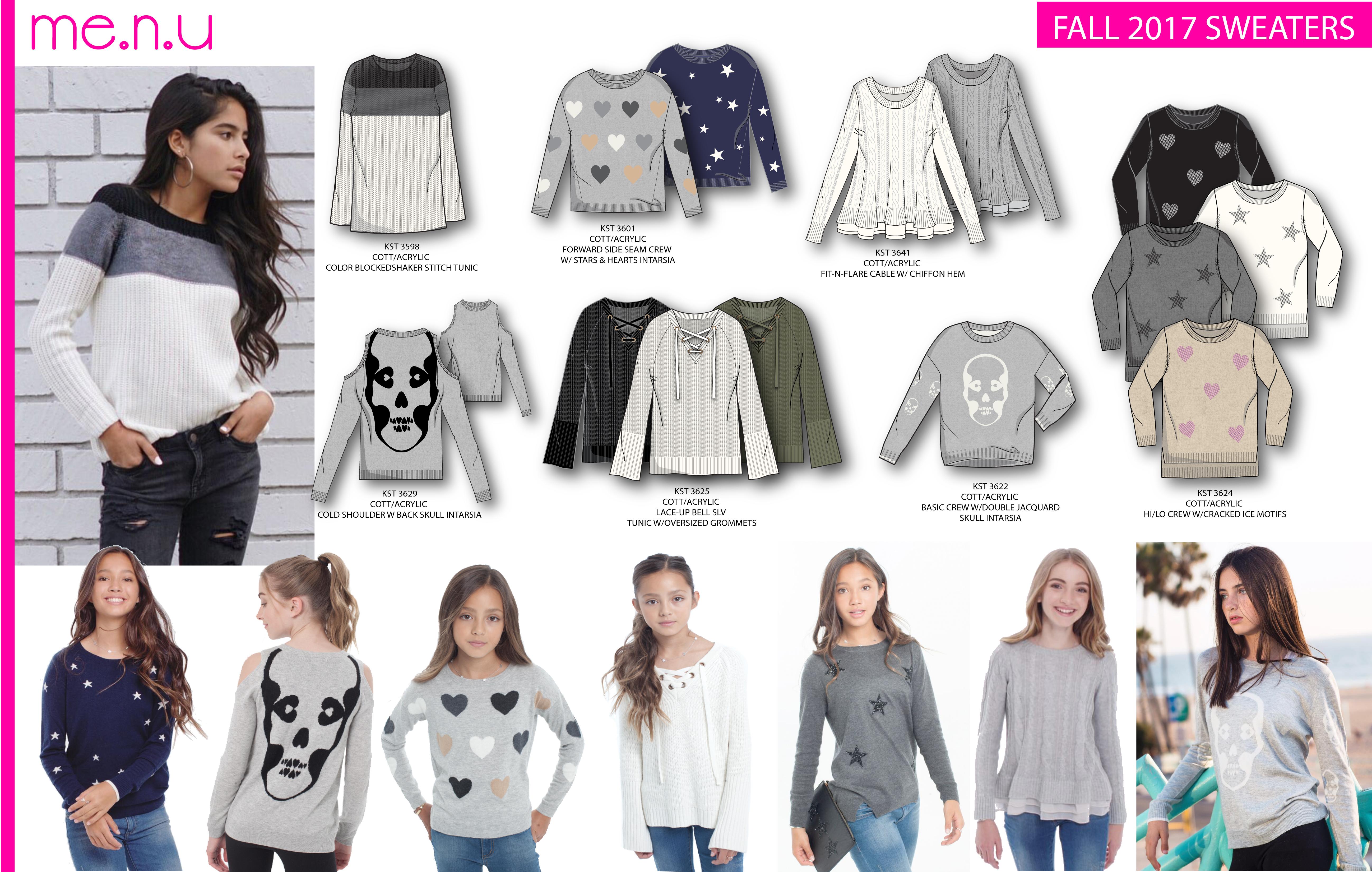 Me.n.u Fall 2017 Sweaters