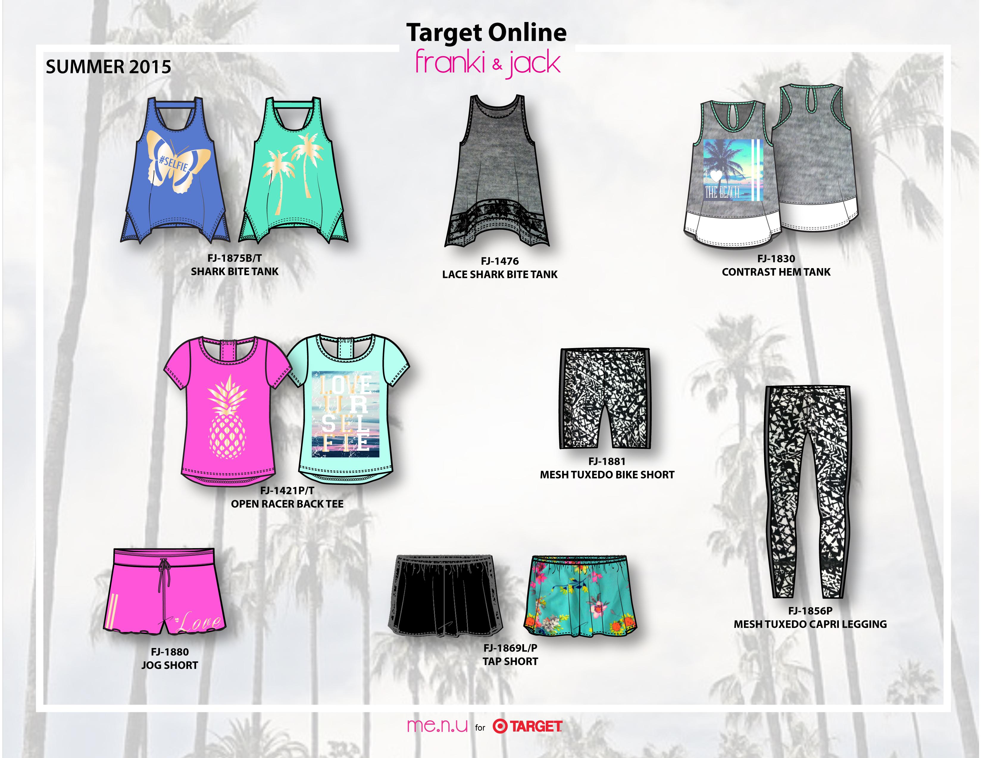 Me.n.u for Target Online Summer 2015