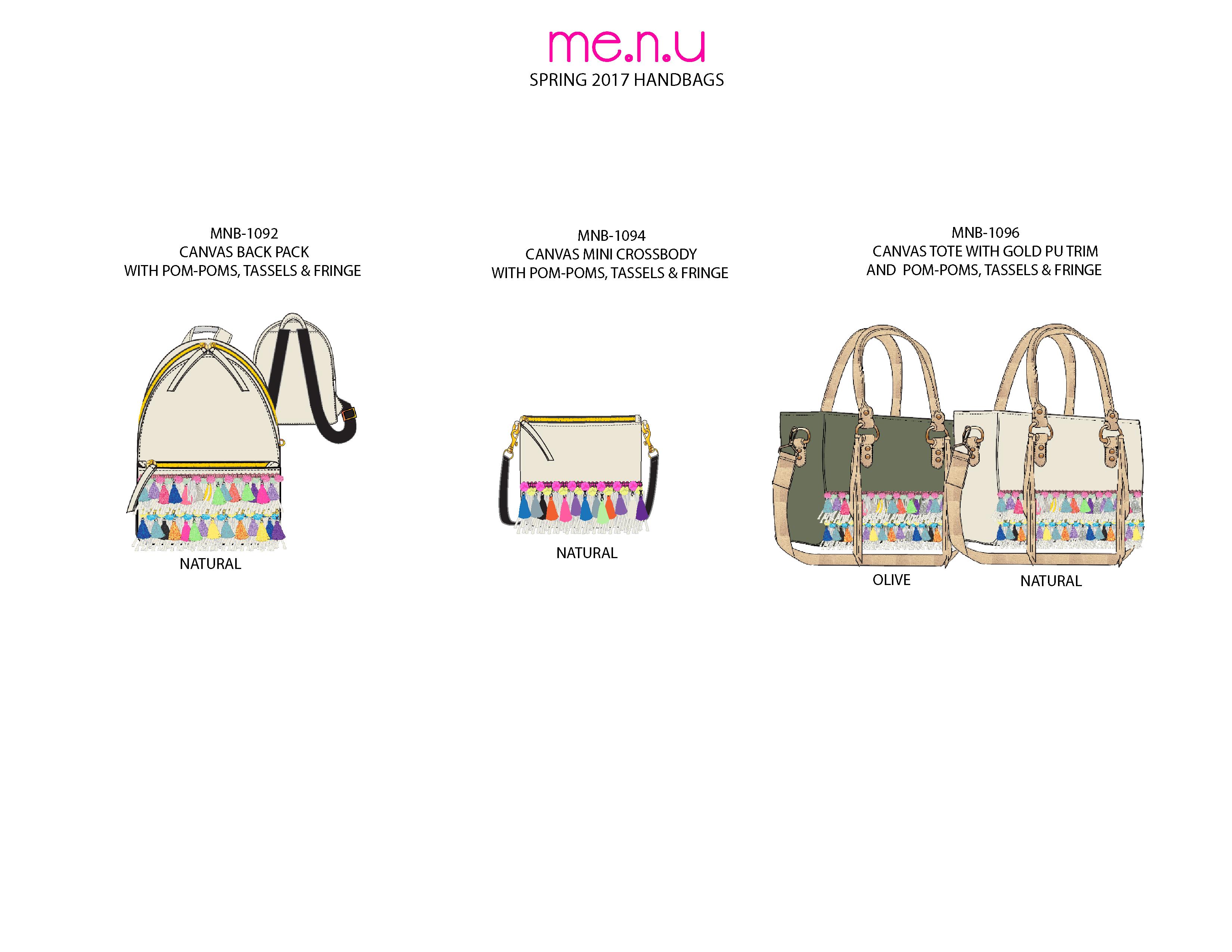Me.n.u Spr '17 Handbags