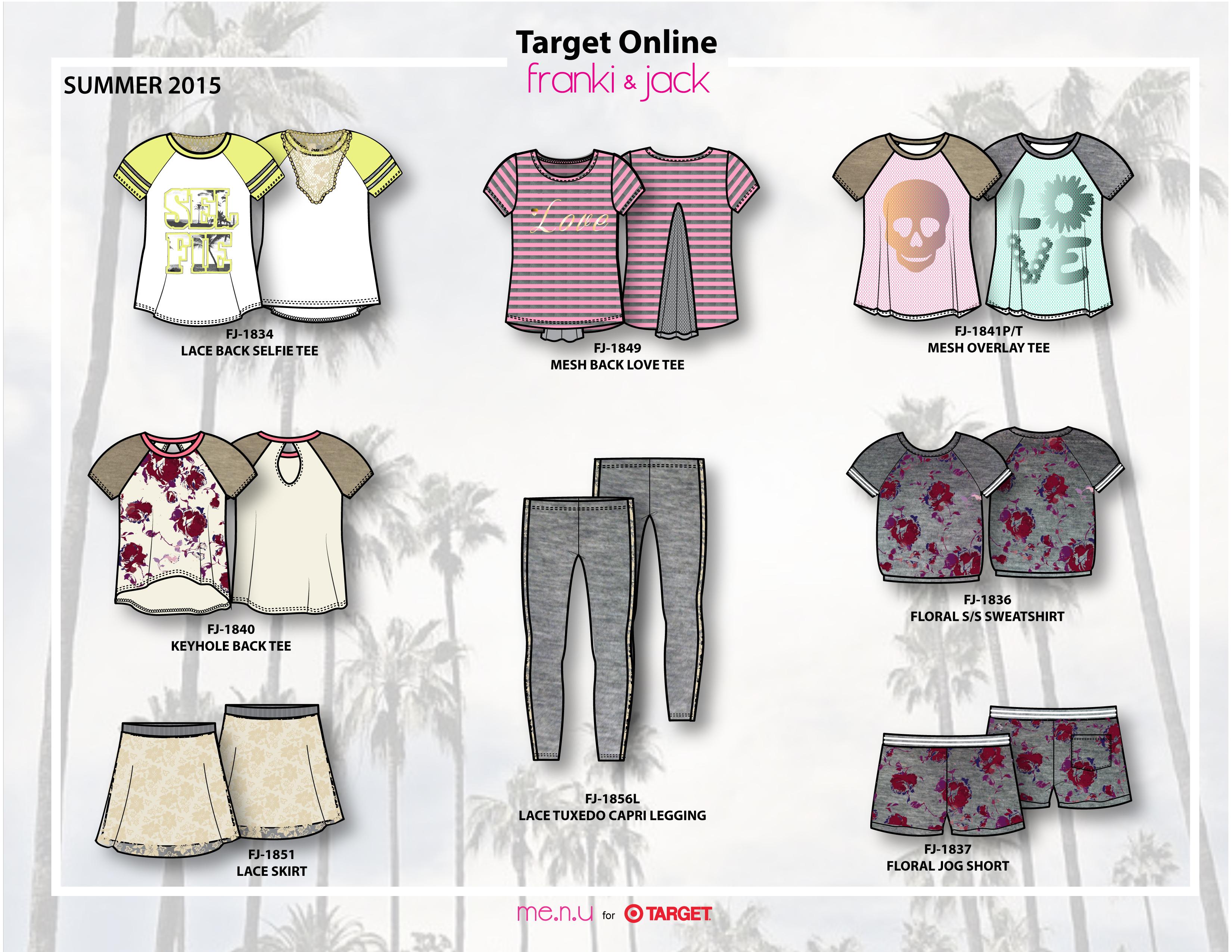 Me.n.u for Target Online Spring 2015