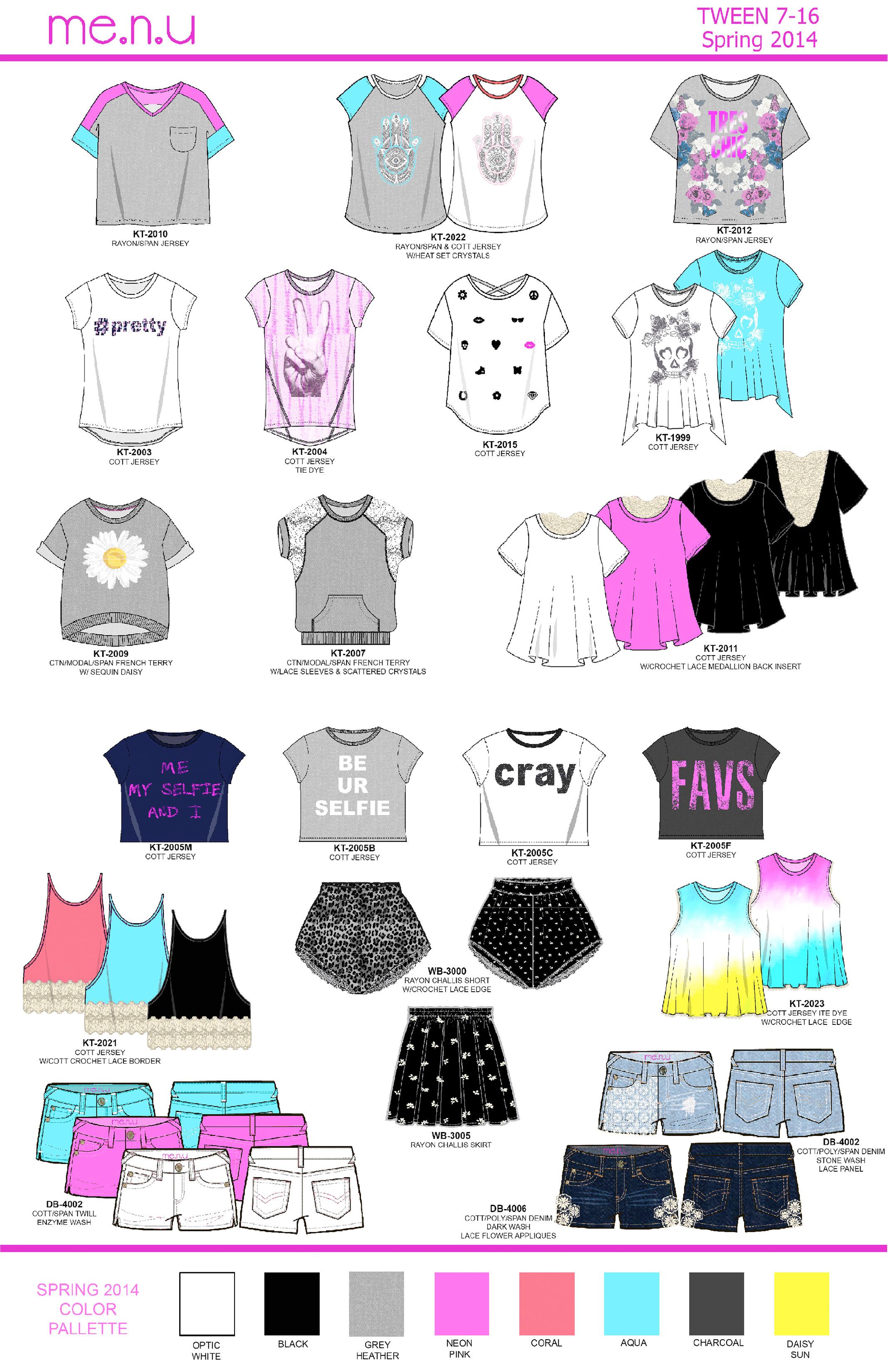 Me.n.u S/S 2014 Girls 7-16