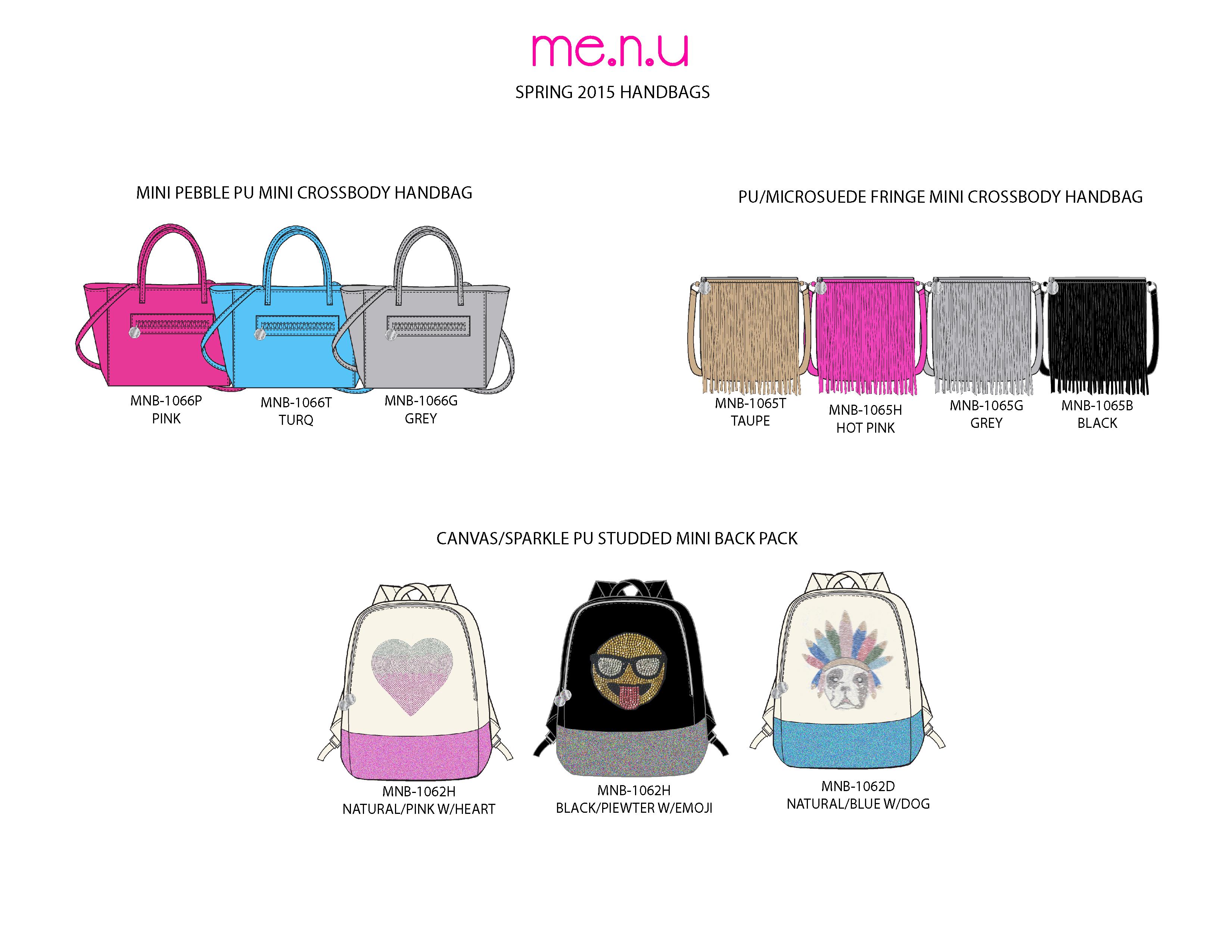 Me.n.u Spr '15 Handbags