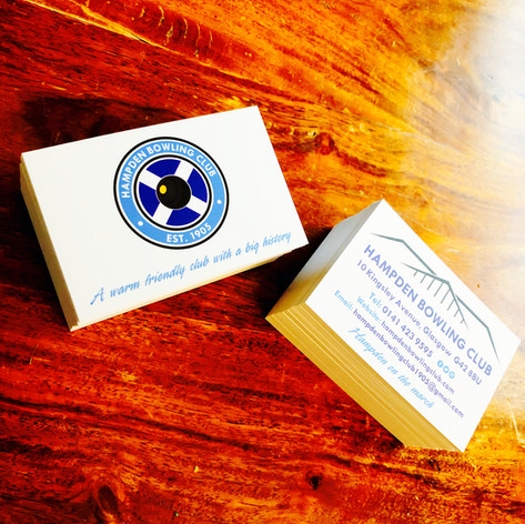 Hampden Bowling Club - Business Cards