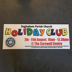 Church Holiday Club - Sign