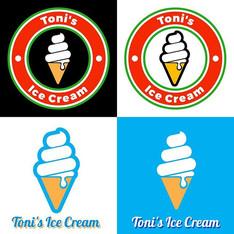Toni's Ice Cream - Logo Design