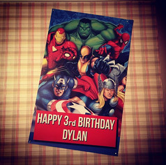 Super Hero Birthday - Banner