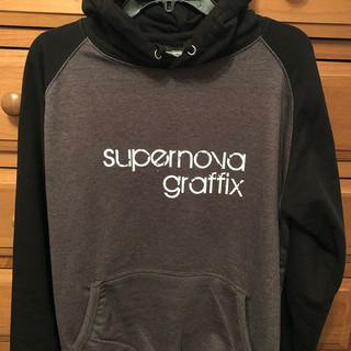 supernova graffix - Printed Baseball Hoodie.