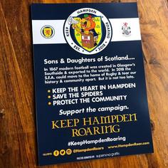 #KeepHampdenRoaring - Posters